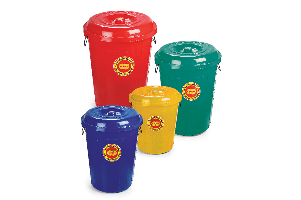 MODERN ROUND BUCKET WITH LID