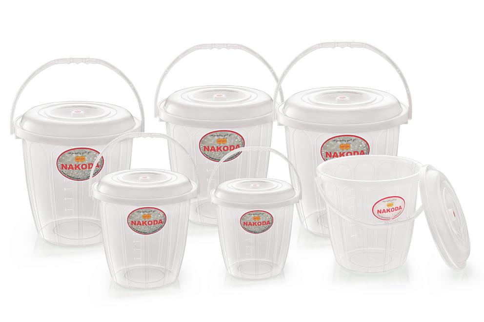 TURBO BUCKET WITH LID (TRANSPARENT)